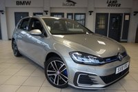 USED 2018 18 VOLKSWAGEN GOLF 1.4 GTE DSG 5d AUTO 150 BHP FINISHED IN STUNNING TUNGSTEN SILVER METALLIC WITH FULL CLOTH UPHOLSTERY + FULL VW SERVICE HISTORY + DAB DIGITAL RADIO + ADAPTIVE CRUISE CONTROL + BLUETOOTH + CLIMATE CONTROL + AIR CONDITIONING + HEATED FRONT SPORTS SEATS + PARKING SENSORS + APP-CONNECT + ANDROID AUTO + APPLE CAR PLAY + MIRROR LINK + MULTIFUNCTION STEERING WHEEL +LIGHT AND SIGHT PACK + MIRROR PACK + ELECTRIC FOLDING DOOR MIRRIRS + 17 INCH RIO DE JANEIRO ALLOY WHEELS