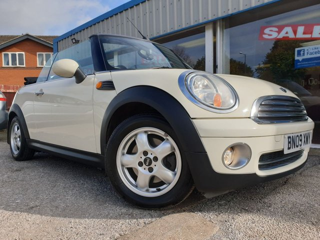 USED 2009 09 MINI CONVERTIBLE 1.6 COOPER 2d 120 BHP FSH 11 STAMPS! 8 MAIN DEALER
