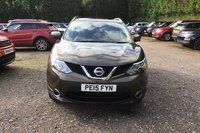 USED 2015 15 NISSAN QASHQAI 1.2 N-TEC PLUS DIG-T 5d 113 BHP METALLIC BRONZE PAINT WORK, GREY CLOTH, GLASS PANORAMIC ROOF, SAT NAV 360 DEGREE CAMERAPOLISHED ALLOY WHEELS, CD PLAYER, DAB RADIO, POLISHED ALLOYS, FRONT AND REAR PARKING SENSORS, 2 OWNERS, NISSAN SERVICE HISTORY ETC