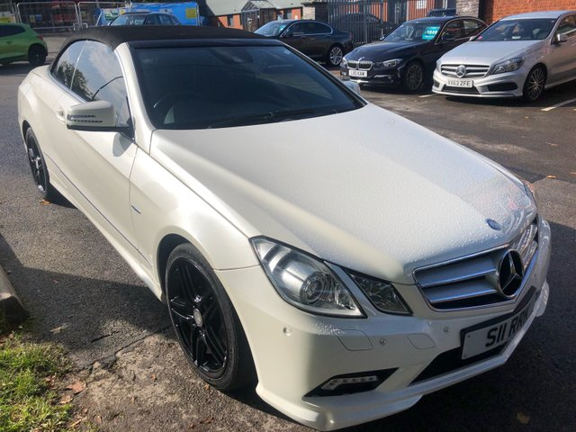 USED 2011 MERCEDES-BENZ E CLASS 3.0 E350 CDI BLUEEFFICIENCY SPORT 2d AUTO 231 BHP VERY HIGH SPEC MERCEDES CONVERTIBLE . VERY CLEAN THROUGHOUT , FULL ELECTRIC HEATED INTERIOR , UPGRADED ENTERTAINMENT SYSTEM , DVD player , ELECTRIC POWER HOOD , SAT NAV , MP3 , USB , BLUETOOTH