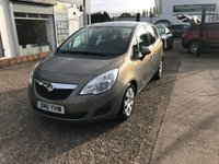 USED 2011 11 VAUXHALL MERIVA 1.4 EXCLUSIV 5d 98 BHP SERVICE HISTORY-PETROL-5 DOOR-12 MONTHS MOT-CRUISE CONTROL-A/C