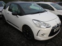 USED 2014 14 CITROEN DS3 1.6 E-HDI DSTYLE PLUS 3d 90 BHP 1 Previous owner - Free road tax - Reverse sensors