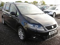 USED 2015 15 SEAT ALHAMBRA 2.0 CR TDI SE LUX DSG 5d AUTO 140 BHP 1 Previous owner - Sat nav - Pan roof - Leather - Cat S