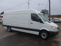 2013 MERCEDES-BENZ SPRINTER 313 CDI LWB HI ROOF, 130 BHP [EURO 5] £SOLD
