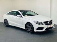 USED 2015 15 MERCEDES-BENZ E CLASS 3.5 E400 AMG LINE 2d AUTO 328 BHP PANORAMIC GLASS + WHITE WITH BLACK LEATHER + LOW MILES + NAV