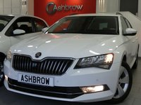 USED 2016 65 SKODA SUPERB ESTATE 2.0 TDI SE BUSINESS 5d 150 S/S SAT NAV, LEATHER ALCANTARA UPHOLSTERY, FRONT & REAR PARKING SENSORS WITH DISPLAY, DAB RADIO, BLUETOOTH PHONE & MUSIC STREAMING, ADAPTIVE CRUISE CONTROL WITH FRONT ASSIST, AUTO HILL HOLD, AUX & USB INPUTS, LIGHT & RAIN SENSORS, ELECTRIC HEATED FOLDING DOOR MIRRORS, ELECTRIC DRIVER SEAT WITH MEMORY, LEATHER MULTIFUNCTION STEERING WHEEL, DUAL CLIMATE AIR CON, DRIVING MODE SELECT, 2x SD CARD READERS, ILLUMINATING VANITY MIRRORS, 1 OWNER FROM NEW, FULL SERVICE HISTORY, £20 ROAD TAX, VAT QUALIFYING