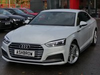 USED 2017 17 AUDI A5 2.0 TDI ULTRA S LINE 2d AUTO 190 S/S NEW SHAPE, 1 OWNER FROM NEW, FULL AUDI SERVICE HISTORY, BALANCE OF AUDI WARRANTY, SAT NAV, BLUETOOTH PHONE & MUSIC STREAMING, DAB RADIO, AUDI SMARTPHONE FOR APPLE CAR PLAY / ANDROID AUTO, FRONT & REAR PARKING SENSORS, LED DAYTIME RUNNING LIGHTS, BLACK PART LEATHER UPHOLSTERY, LEATHER MULTIFUNCTION TIPTRONIC STEERING WHEEL (PADDLE SHIFT), ALUMINIUM PEDALS, LIGHT & RAIN SENSORS, CRUISE CONTROL WITH SPEED LIMITER, HEATED FRONT SEATS, ELECTRIC FRONT SEATS, AUX & 2X USB, KEYLESS START, 3 ZONE CLIMATE