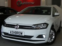 USED 2018 68 VOLKSWAGEN POLO 1.0 SE 5d 65 S/S NEW SHAPE, FULL VW SERVICE HISTORY, BALANCE OF VW WARRANTY, APP CONNECT FOR APPLE CAR PLAY ANDROID AUTO & MIRROR LINK, FRONT ASSIST WITH AMBIENT TRAFFIC MONITORING, BLUETOOTH PHONE & MUSIC STREAMING, DAB RADIO, 2x USB PORTS, LED DAYTIME RUNNING LIGHTS, SPEED LIMITER, AUTOMATIC LIGHTS, LEATHER FLAT BOTTOM MULTIFUNCTION STEERING WHEEL, AIR CONDITIONING, ILLUMINATING VANITY MIRRORS, MFD TRIP COMPUTER WITH DIGITAL SPEEDOMETER, TYRE PRESSURE MONITORING SYSTEM, VAT QUALIFYING