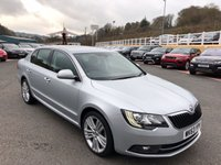 USED 2013 63 SKODA SUPERB 2.0 ELEGANCE TDI CR DSG 5d AUTO 139 BHP Only 47,500 miles with service history & high specification