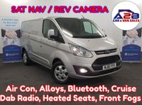USED 2016 16 FORD TRANSIT CUSTOM 2.2  LIMITED 125 BHP  Colour Sat Nav, Reversing Camera, Air Con, Bluetooth, Alloys, Cruise , Heated Seats and Screen, and more ** Drive Away Today** Over The Phone Low Rate Finance Available, Just Call us on 01709 866668 **