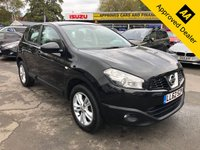 2012 NISSAN QASHQAI 1.6 ACENTA 5d 117 BHP IN METALLIC BLACK WITH FULL SERVICE HISTORY, LOW MILEAGE,, 1 OWNER AND IS ULEZ COMPLIANT £5799.00