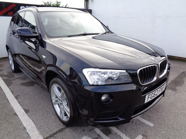 USED 2012 62 BMW X3 2.0 XDRIVE20D M SPORT 5d AUTO 181 BHP 19 Inc Alloys Leather Trim Sat Nav Parking Sensors Privacy Glass