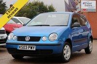 2003 VOLKSWAGEN POLO 1.4 S 3d 74 BHP £999.00