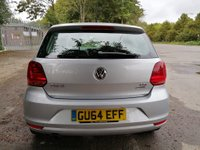 USED 2014 64 VOLKSWAGEN POLO 1.2 SE TSI DSG 5d AUTO 89 BHP AUTOMATIC IN METALLIC SILVER WITH 56000 MILES, FULL SERVICE HISTORY, 1 OWNER, GREAT SPEC AND IS ULEZ COMPLIANT  Approved Cars are pleased to offer this stunning 2014 Volkswagen Polo1.2 TSI automatic hatchback. This is a very economical and ulez compliant car and is ideal for a small family or a new driver. This car is cheap to run but comes with loads of extras including DAB, bluetooth, Isofix, electric windows and much much more. It has been extremely well looked after and comes with a full service history being serviced at 9k, 16k, 26k, 37k and 47k miles.