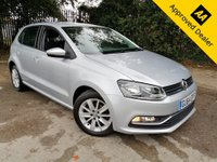 2014 VOLKSWAGEN POLO 1.2 SE TSI DSG 5d AUTO 89 BHP AUTOMATIC IN METALLIC SILVER WITH 56000 MILES, FULL SERVICE HISTORY, 1 OWNER, GREAT SPEC AND IS ULEZ COMPLIANT  £7999.00