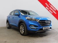 USED 2016 16 HYUNDAI TUCSON 1.7 CRDI SE NAV BLUE DRIVE 5d 114 BHP Stunning Hyundai Tucson 1.7 CRDI SE NAV having had just 1 Previous Owner and comes with Full Service History. Comes with a great specification including SAT NAV, Reversing Camera, Parking Sensors, Cruise Control, Bluetooth, Air Con, Leather Multi-Functional Steering Wheel, comes in Metallic Ara Blue, MOT to  2nd June 2020 and comes with the balance of Hyundai Warranty to July 2021. Only £30 Road Fund Licence and this car is also a Euro 6 and hence is ULEZ complaint and there is no charge.