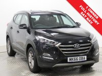 USED 2016 66 HYUNDAI TUCSON 1.6 GDI SE NAV BLUE DRIVE 5d 130 BHP Stunning Hyundai Tucson 1.7 CDI SE NAV having had just 1 Previous Owner and comes with Full Service History. Comes with a great specification including SAT NAV, Reversing Camera, Parking Sensors, Heated Seats, Cruise Control, Bluetooth, Air Con, Leather Multi-Functional Steering Wheel, comes in Pearlescent Phantom Black, has MOT to  22nd September 2020 and comes with the balance of Hyundai Warranty to September 2021. Finance Available at 9.9% APR Representative.