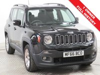 USED 2016 66 JEEP RENEGADE 1.6 M-JET LONGITUDE 5d 118 BHP Stunning Jeep Renegade 1.6 Longitude, having had just 1 Previous Owner an comes with Full Service History. In addition this car has a great specification including SAT NAV, Parking Sensors, Bluetooth, Air Conditioning, Cruise Control, DAB Radio, USB/AUX, Leather Multi-Functional Steering Wheel, 2 Keys and has an MOT to 3rd July 2020. Euro 6, ULEZ Complaint hence no charge. Nationwide Delivery Available. Finance Available at 9.9% APR Representative.