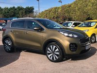 2016 KIA SPORTAGE 1.7 CRDI 3 ISG 5d WITH SAT NAV AND LEATHER  £14000.00
