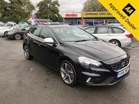2016 VOLVO V40 2.0 D3 R-DESIGN NAV 5d AUTO 148 BHP IN STUNNING CONDITION, METALLIC BLACK PAINT, LEATHER SEATS, SAT NAV, FULL SERVICE HISTORY, 45000 MILES AND IS ULEZ COMPLIANT £10999.00