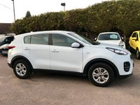 2016 KIA SPORTAGE 1.7 CRDI 1 ISG 5d WITH REMAINING KIA 7YR WARRANTY  £10750.00