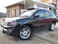 USED 2013 63 JEEP COMPASS 2.1 CRD LIMITED 5d 161 BHP SUPER EXAMPLE WITH FULL SERVICE HISTORY & SATELLITE NAVIGATION