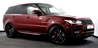 """USED 2016 66 LAND ROVER RANGE ROVER SPORT 3.0 SD V6 HSE 4X4 (s/s) 5dr Black Pack, 360 Cams, 22""""s ++"""
