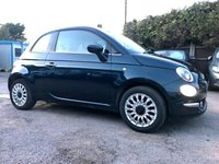 USED 2017 17 FIAT 500 1.2 LOUNGE 3d WITH REMAINING FIAT WARRANTY  NO DEPOSIT  PCP/HP FINANCE ARRANGED, APPLY HERE NOW