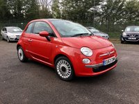 2013 FIAT 500 1.2 LOUNGE 3d  NEW TIMING BELT, SERVICE AND TWO  FRONT TYRES £4250.00