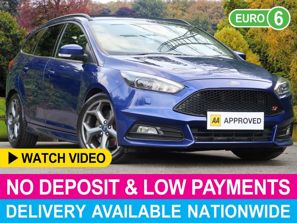 USED 2017 66 FORD FOCUS 2.0 TDCI 185 ST-3 NAVIGATION ESTATE 5DR SAT NAV FULL LEATHER 1 OWNER