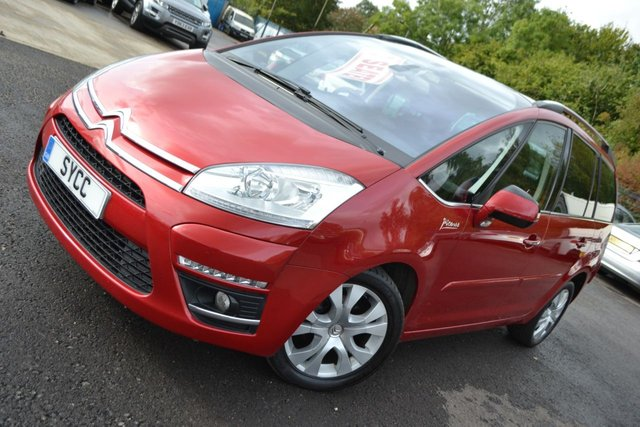 USED 2013 13 CITROEN C4 GRAND PICASSO 1.6 PLATINUM EGS E-HDI 5d AUTO 110 BHP ~ PAN ROOF PAN ROOF ~ FULL SERVICE RECORDS ~ 6 MONTHS WARRANTY ~ 2 KEYS
