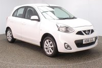 USED 2016 16 NISSAN MICRA 1.2 ACENTA 5DR 79 BHP SERVICE HISTORY + £30 12 MONTHS ROAD TAX + BLUETOOTH + CRUISE CONTROL + CLIMATE CONTROL + MULTI FUNCTION WHEEL + RADIO/CD/AUX/USB + ELECTRIC WINDOWS + ELECTRIC MIRRORS + 15 INCH ALLOY WHEELS