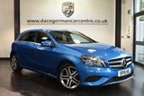 """USED 2015 15 MERCEDES-BENZ A CLASS 1.5 A180 CDI BLUEEFFICIENCY SPORT 5DR AUTO 109 BHP superb service history Finished in a stunning south sea metallic blue styled with 17"""" alloys. Upon opening the drivers door you are presented half black leather interior, superb service history, bluetooth, £20 road tax, cruise control, sat nav prep, rain sensors, attention assist, air conditioning, urban/progressive package, illumination package"""
