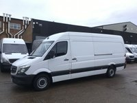 USED 2016 16 MERCEDES-BENZ SPRINTER 2.1 314CDI LWB HIGH ROOF 140BHP EURO 6. ULEZ. 1 OWNER. PX 1 OWNER. EURO 6 ULEZ. FINANCE. F/S/H. PX WELCOME