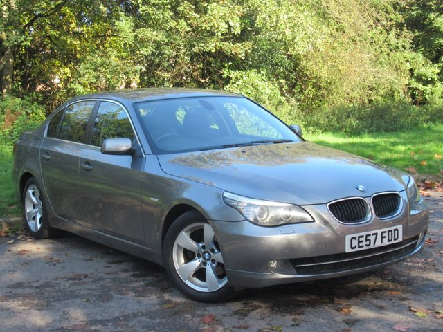 USED 2007 57 BMW 5 SERIES 2.0 520D SE 4d AUTO 161 BHP COMPREHENSIVE SERVICE HISTORY, ALLOY WHEELS