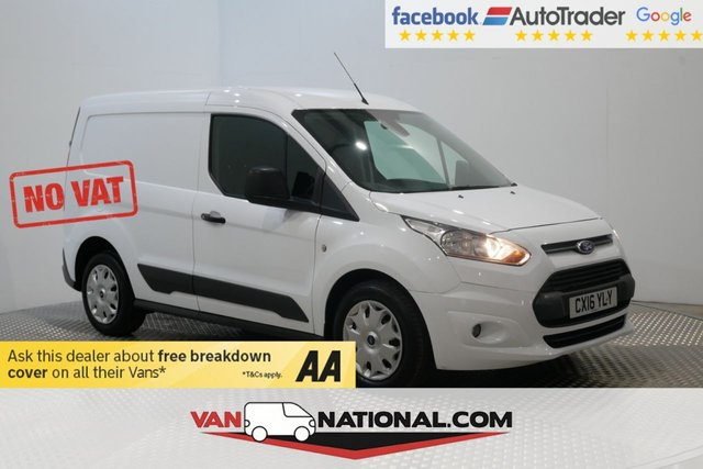 USED 2016 16 FORD TRANSIT CONNECT 1.6 200 TREND P/V 94 BHP *3 SEATS* NO VAT * NO VAT** * BLUETOOTH * DAB * NO VAT * HEATED SCREEN *