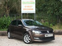 USED 2013 63 VOLKSWAGEN POLO 1.2 MATCH EDITION 5dr Air Con, Cruise, Park Sensors