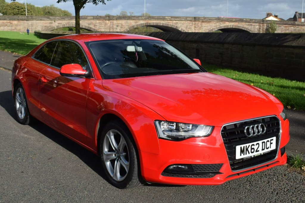 USED 2012 62 AUDI A5 1.8 TFSI SE 2d AUTO COUPE 168 BHP SERVICE HISTORY, SPORTS LEATHER SEATS, ALLOY WHEELS, PRIVACY GLASS