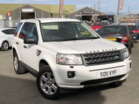 USED 2011 11 LAND ROVER FREELANDER 2.2 TD4 GS 5d 150 BHP *FUJI WHITE, 7 SERVICE STAMPS, TOW BAR!*