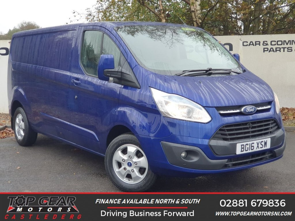 USED 2016 16 FORD TRANSIT CUSTOM 310 LIMITED 2.2 125 BHP L2 H1 LWB  **OVER 90 VANS IN STOCK**