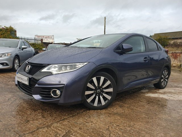 USED 2015 65 HONDA CIVIC 1.6 I-DTEC EX PLUS 5d 118 BHP PARKING+0TAX+CRUISE+NAV+PAN+CAMERA+LEATHERTRIM+17ALLOYS+CLIMATE+