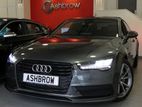 USED 2016 66 AUDI A7 SPORTBACK 3.0 TDI ULTRA S LINE 5d AUTO 215 S/S UPGRADE 19 INCH 5 V SPOKE ALLOYS, UPGRADE LIGHTING PACK, SAT NAV, HEATED SEATS, FULL BLACK LEATHER, DAB RADIO, BLUETOOTH PHONE & MUSIC, FRONT & REAR PARKING SENSORS WITH DISPLAY, ACTIVE REAR SPOILER, ELECTRIC TAILGATE, PRIVACY GLASS, BLACK GRILLE OPTIC, DE-CHROMED WINDOW SURROUNDS, ELECTRIC SEATS WITH DRIVER MEMORY, SPORT SEATS WITH ELECTRIC LUMBAR SUPPORT, MULTIFUNCTION TIPTRONIC STEERING WHEEL, CRUISE CONTROL, LIGHT & RAIN SENSORS, 1 OWNER, FULL AUDI SERVICE HISTORY, £30 ROAD TAX, VAT Q