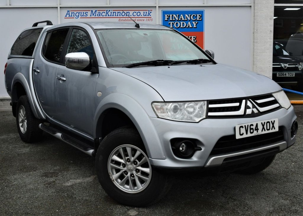 USED 2014 64 MITSUBISHI L200 2.5 DI-D 4X4 TROJAN 5 Seat Double Cab Lifestyle Pickup with NO VAT TO PAY SO SAVE 20% Plus Full Mitsubishi Service History Rear Canopy Side Steps ** LOW MILEAGE FOR AGE**