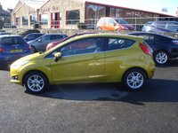 USED 2014 14 FORD FIESTA 1.2 ZETEC 3d 81 BHP ROAD TAX ONLY £30 A YEAR