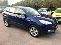 2016 FORD KUGA 2.0 TDCI ZETEC  5d WITH SAT NAV AND REAR PARKING SENSORS £10500.00