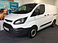 USED 2017 17 FORD TRANSIT CUSTOM 2.0 270 LR P/V 104 BHP EURO 6 EURO 6, ULTRA LOW EMISSION ZONE COMPLIANT,