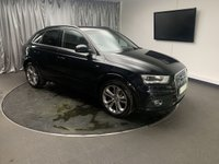 USED 2013 63 AUDI Q3 2.0 TFSI QUATTRO S LINE 5d AUTO 208 BHP FREE UK DELIVERY, AIR CONDITIONING, AUTOMATIC HEADLIGHTS, AUX INPUT, BLUETOOTH CONNECTIVITY, BOSE SOUND SYSTEM, CLIMATE CONTROL, DAB RADIO, ELECTRONIC PARKING BRAKE, GEARSHIFT PADDLES, PARKING SENSORS, SATELLITE NAVIGATION, START/STOP SYSTEM, STEERING WHEEL CONTROLS, TRIP COMPUTER, VOICE CONTROLS