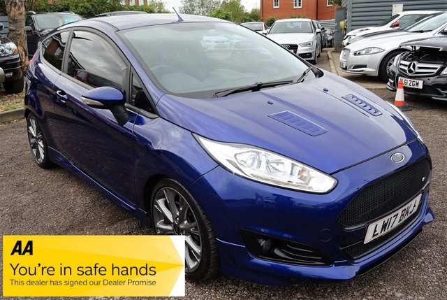 USED 2017 17 FORD FIESTA 1.0 ST-LINE 3d 100 BHP LOW MILEAGE LAST SERVICED JUNE 2019, 1 PREVIOUS KEEPER