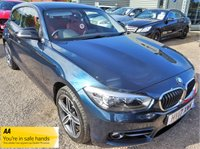 USED 2017 17 BMW 1 SERIES 1.5 118I SPORT 3d 134 BHP FITTED FACTORY OPTIONS WORTH £1035 ONE OWNER FROM NEW