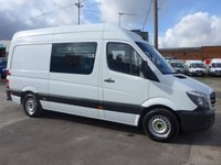 USED 2013 63 MERCEDES-BENZ SPRINTER 313 CDI MWB WELFARE WITH TOILET, 130 BHP [EURO 5]